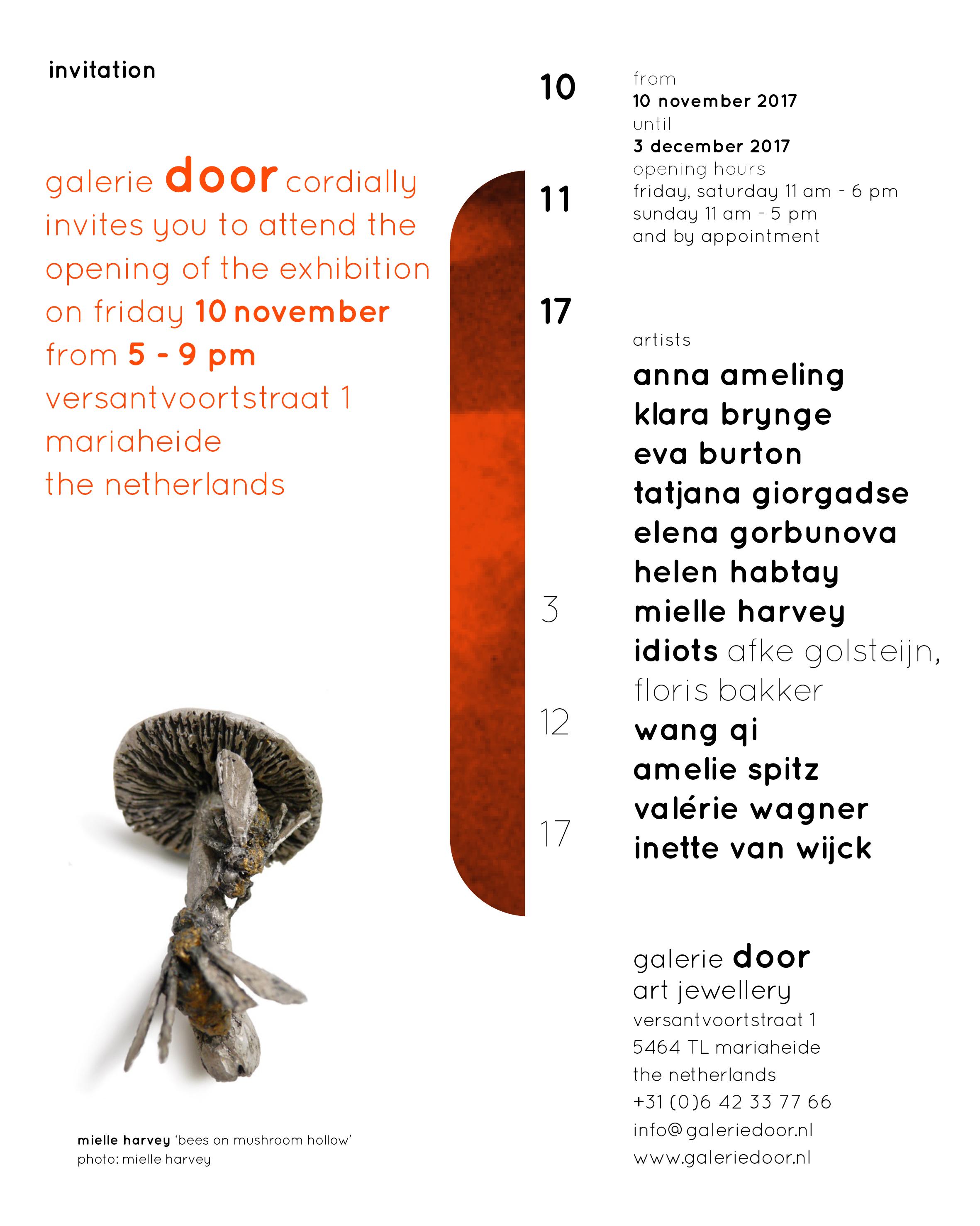galerie door invitation opening 2017 uitnodiging november 2017