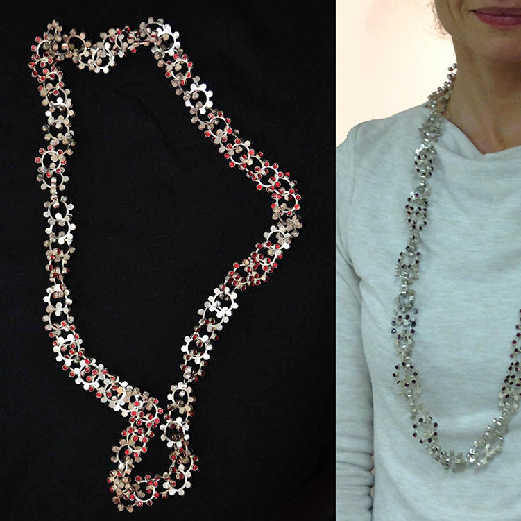 colombe d'humieres, ... 2018, necklace, zilver, rubies, .. x .. x .. mm, photo: courtesy colombe d'humieres