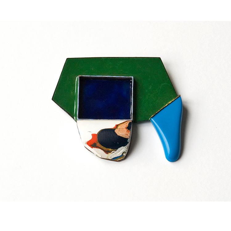 galerie door contemporary fine art and art jewellery danni schwaag brooch blue drop