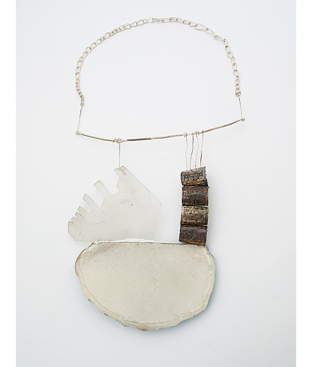 tatjana giorgadse, my grave good, 2012, necklace, silver, silver niello (antique), fungus, pigment - photo: tatjana giorgadse