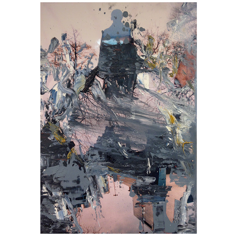 Uwe Poth, Fete 1, 2010-2019, painting, oil paint on linen, 30 x 30 cm, photo: Uwe Poth