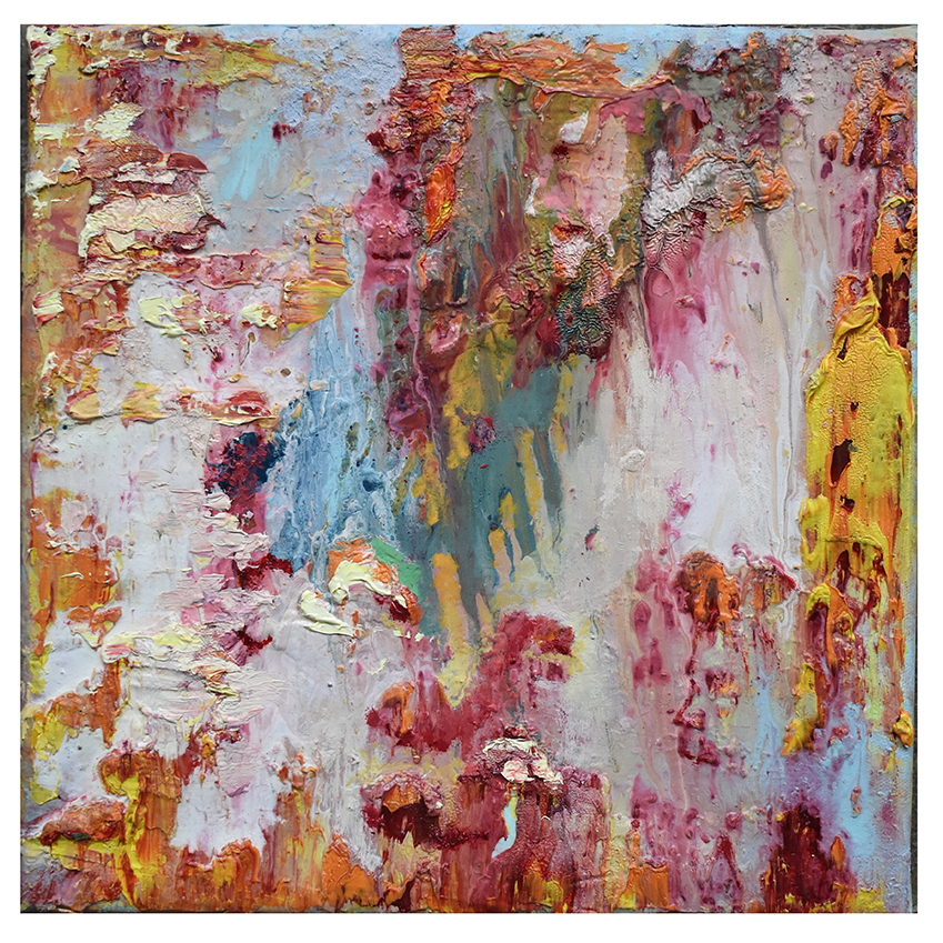 Uwe Poth, Fete 4, 2008-2019, painting, oil on canvas, 30 x 30 cm - photo Uwe Poth